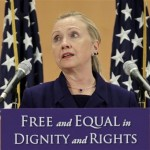 Hillary Clinton speaks to a radical homosexual activist group.