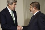 Muslim Brotherhood Egyptian tyrant Morsi meets John Kerry.