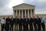 William J. Murray with a Prayer Team in front of the Supreme Court.