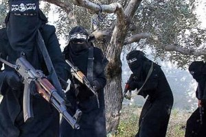Islamic State females enforcing Sharia in Syria.