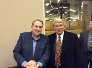Mike Huckabee and William J. Murray in Richmond, Virginia in January, 2015.  Huckabee spoke at an event there.