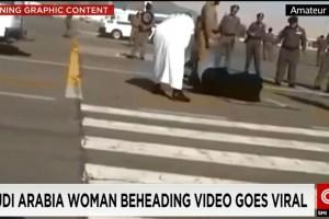 Saudi woman beheaded on public street.