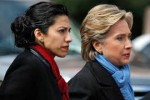 Huma Abedin and Hillary Clinton. Abedin is linked to Muslim Brotherhood subversives.