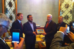 """McCain and Graham give an award to """"moderate"""" terrorist who now runs ISIS in Libya."""