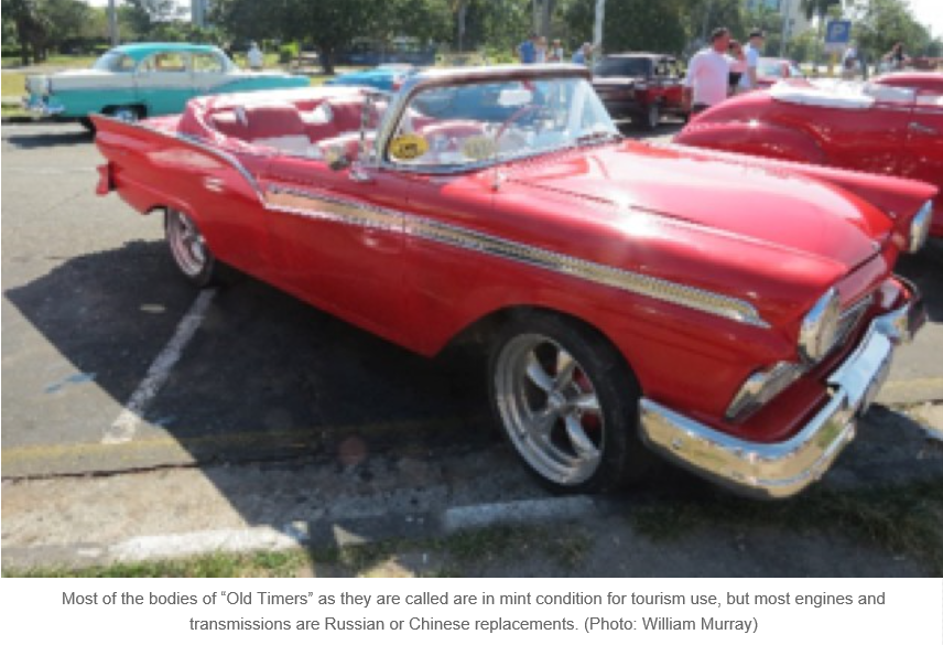 the 65 000 antique american cars in the streets of cuba are for the
