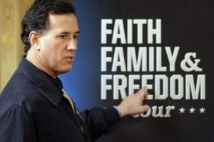Rick Santorum faith family freedom