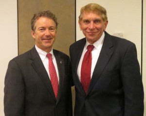 Senator Rand Paul (R-KY) and William J Murray.