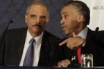 """""""Rev"""" Al Sharpton giving marching orders to Eric Holder"""