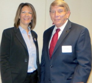 Dr. Kelli Ward and GING-PAC chairman William J. Murray